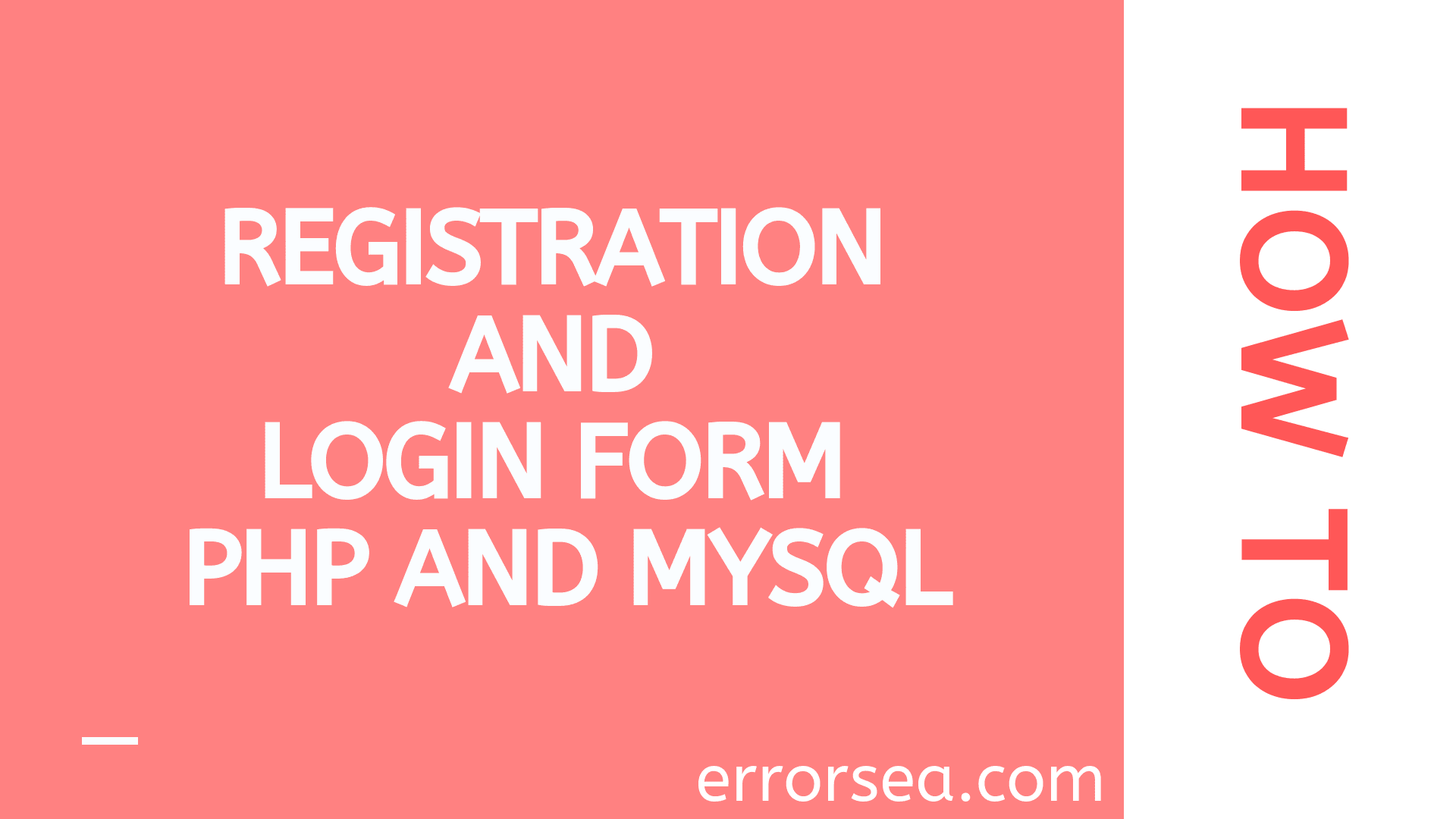 Simple Registration and Login form with PHP and MySQL