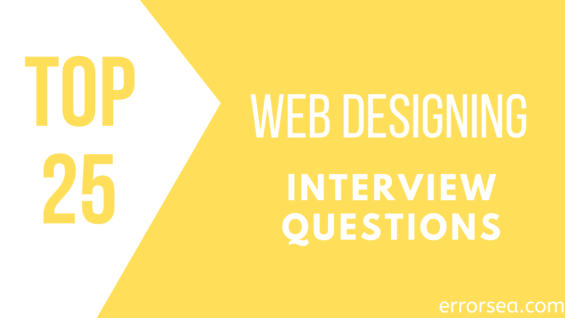 Top 25 Web Designing Interview Questions