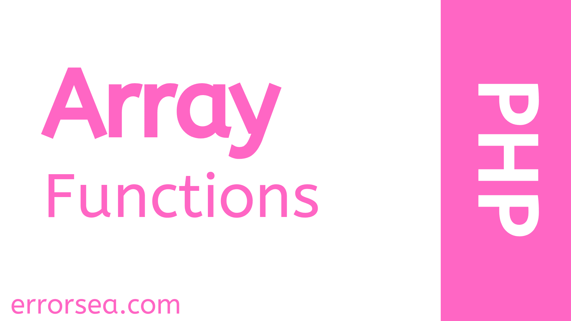 List Of PHP Array Functions