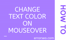 Change Text Color on Mouseover
