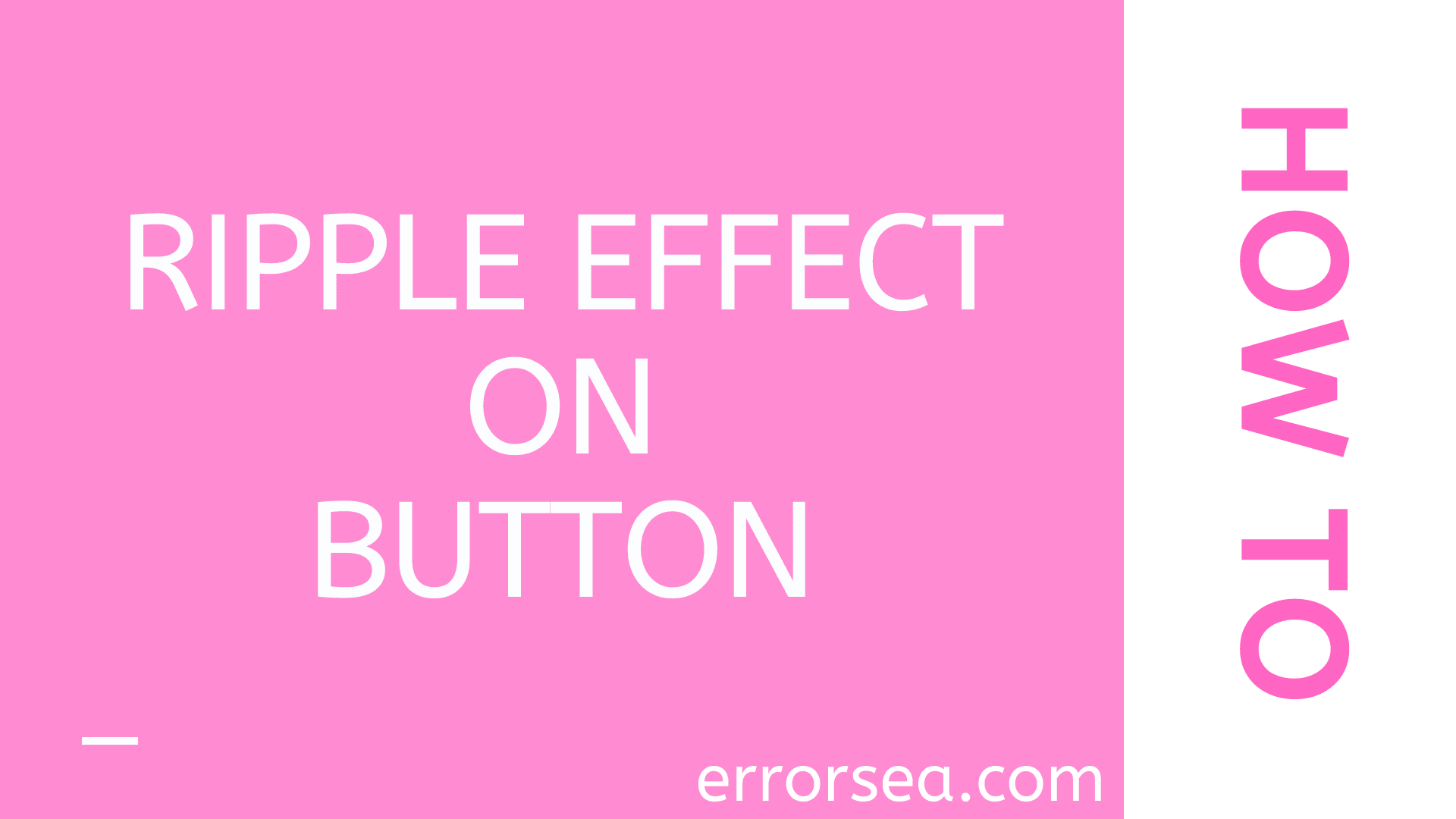 How to Apply Ripple Effect to On Button With CSS