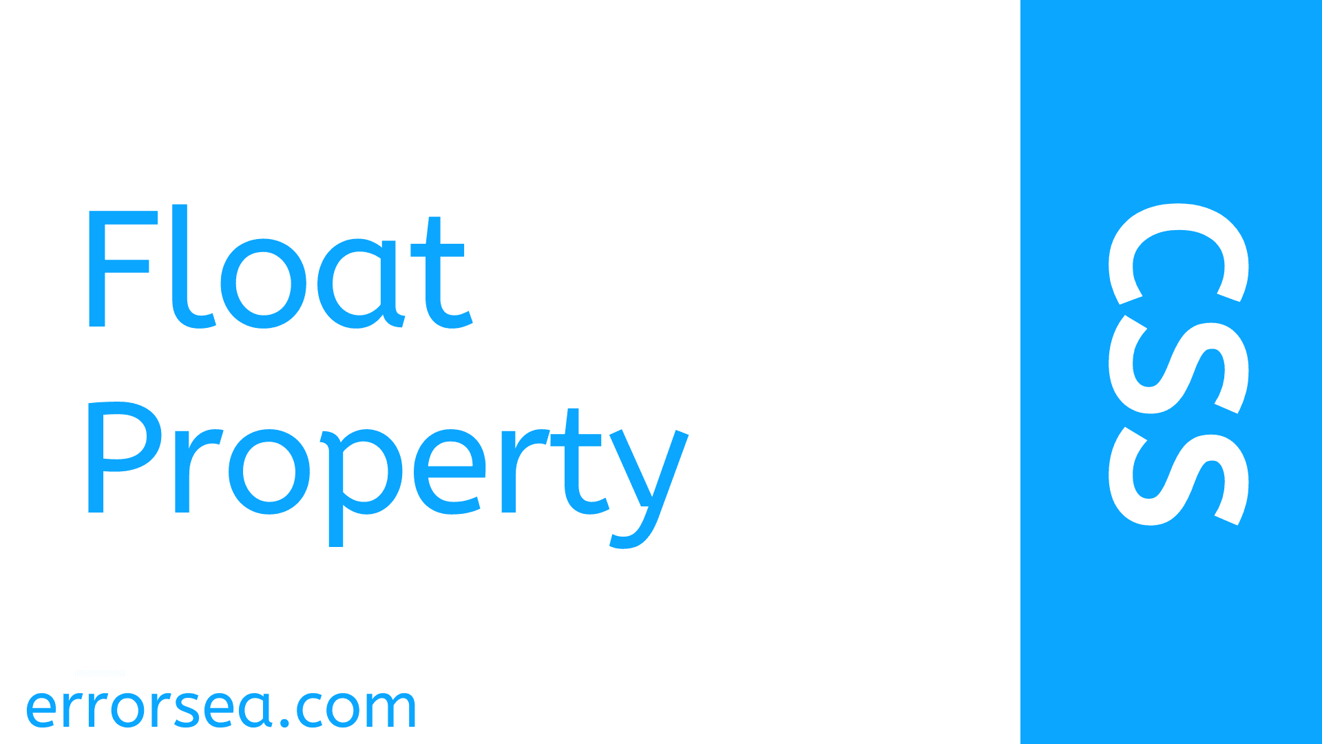 Types of Float Property and How to Use Float  in CSS