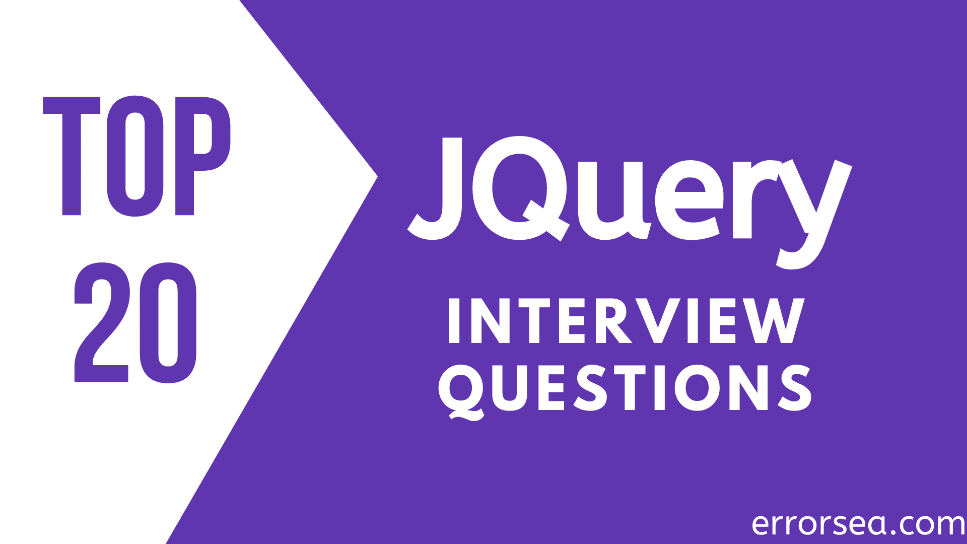 Top 25 JQuery Interview Questions