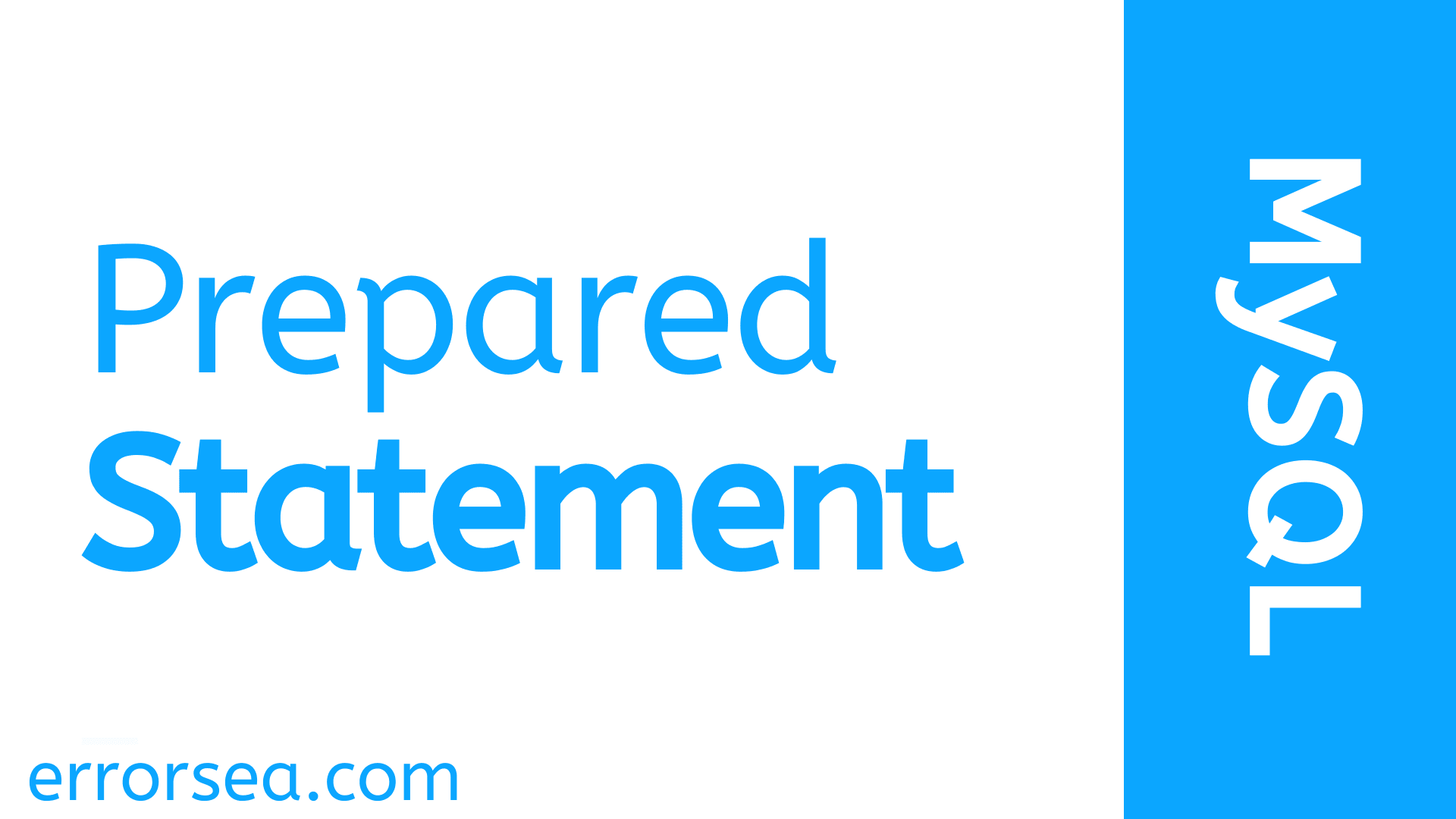 Prepared Statement in PHP With MySQLi
