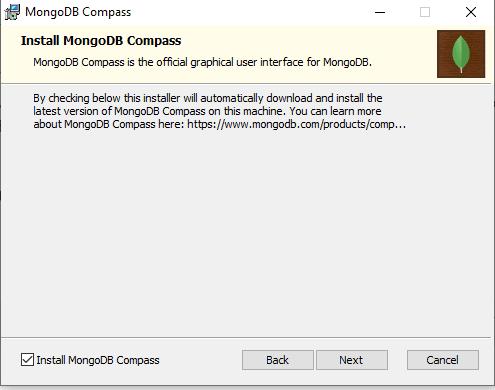 step 3 install mongodb compass in windows