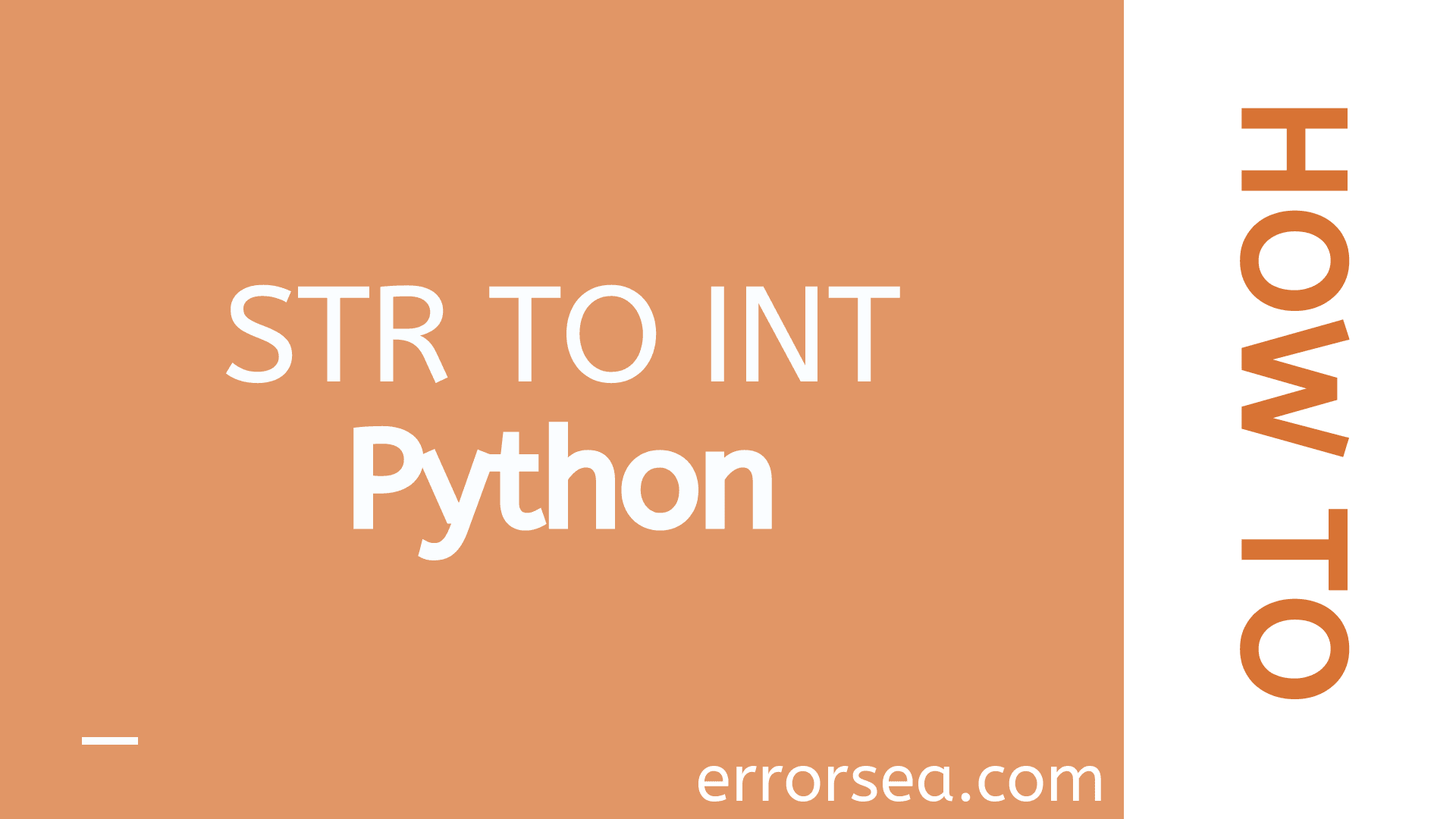 How to Convert String to Integer in Python [Str to Int]