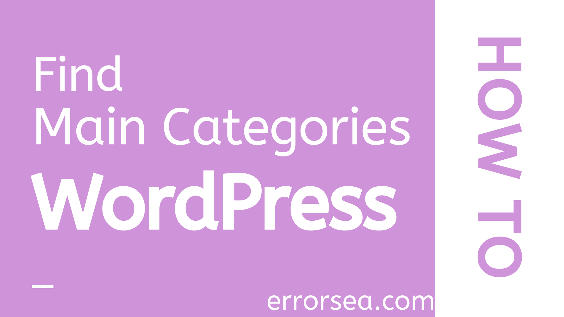 How to List Only Parent Categories in WordPress
